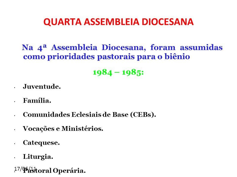 QUARTA ASSEMBLEIA DIOCESANA