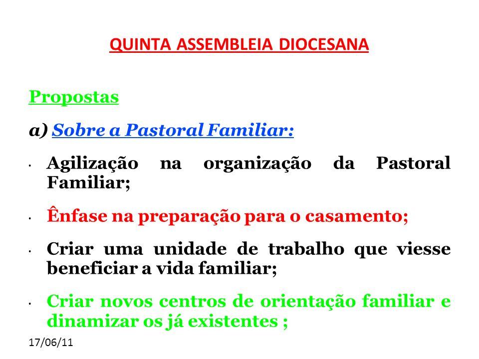 QUINTA ASSEMBLEIA DIOCESANA