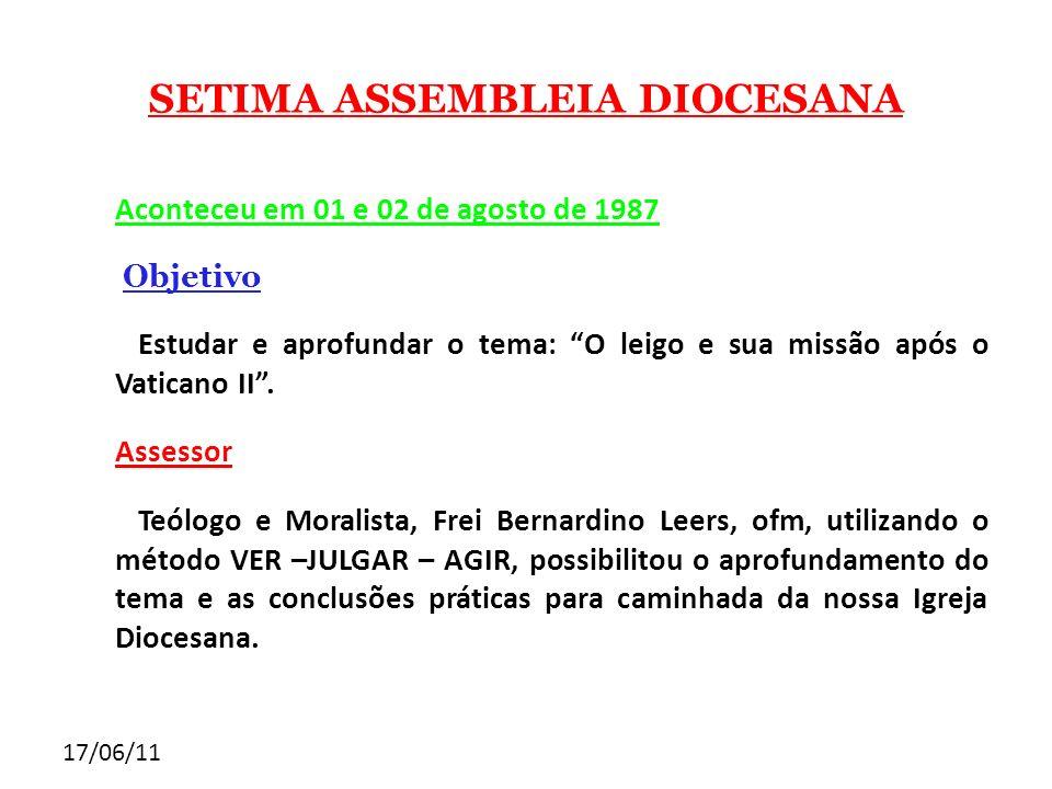 SETIMA ASSEMBLEIA DIOCESANA