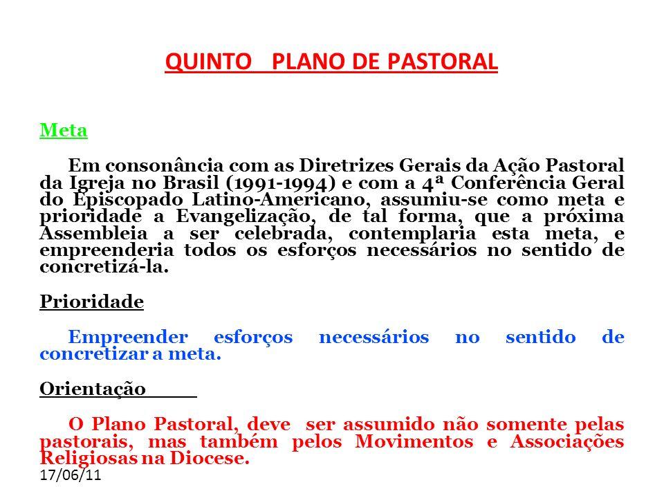 QUINTO PLANO DE PASTORAL