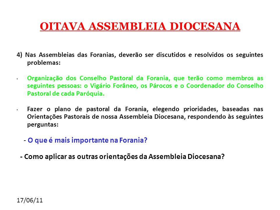 OITAVA ASSEMBLEIA DIOCESANA