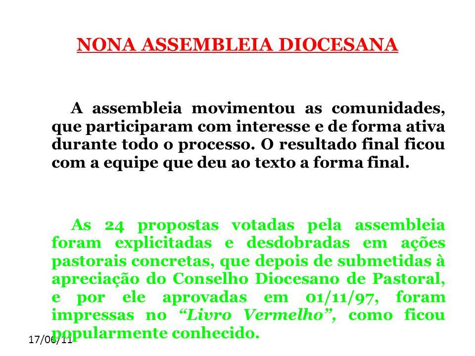 NONA ASSEMBLEIA DIOCESANA