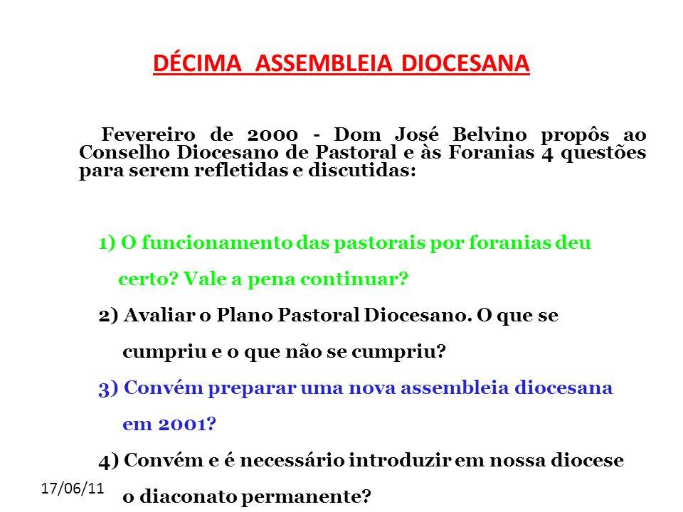 DÉCIMA ASSEMBLEIA DIOCESANA