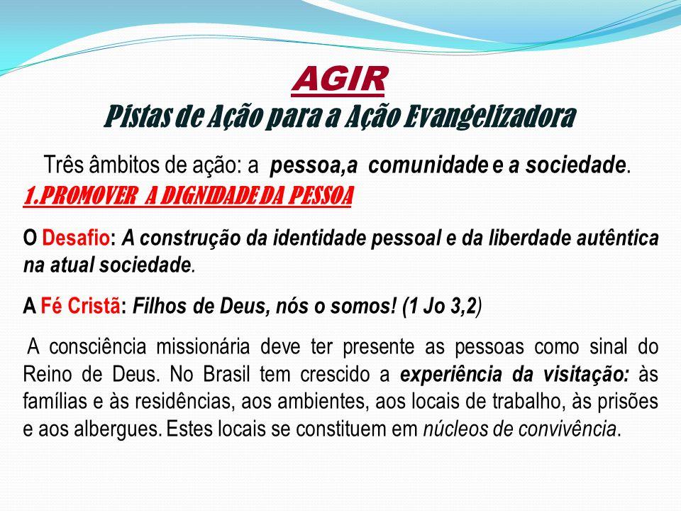 Pistas de Ação para a Ação Evangelizadora