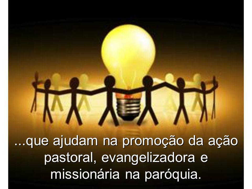 ...que ajudam na promoção da ação pastoral, evangelizadora e missionária na paróquia.