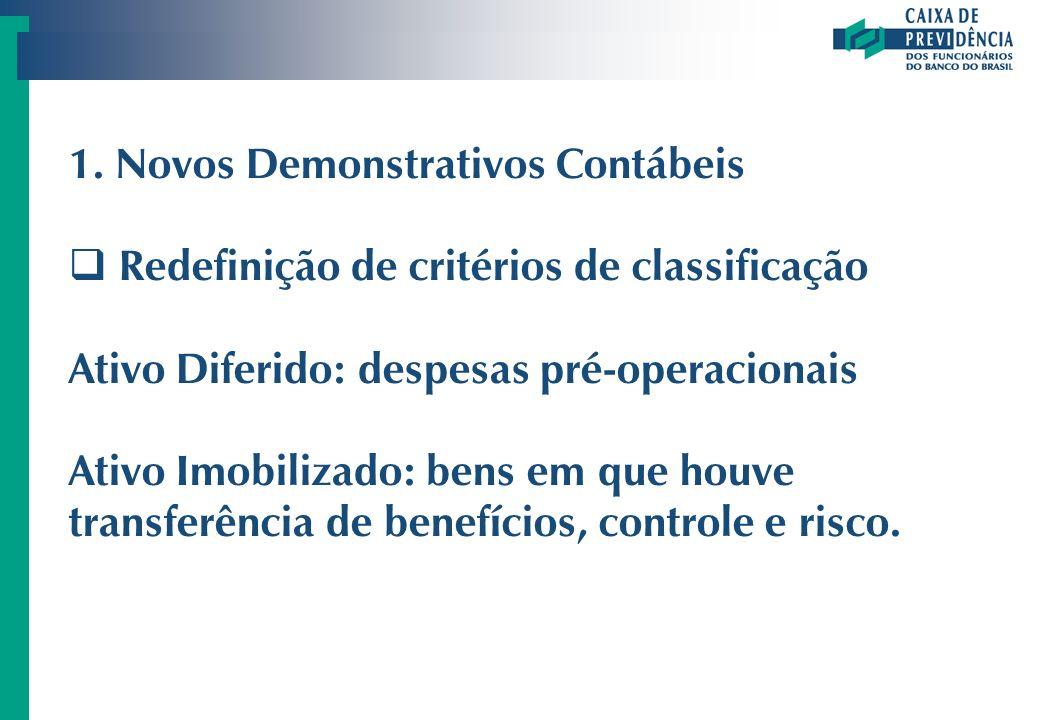 1. Novos Demonstrativos Contábeis