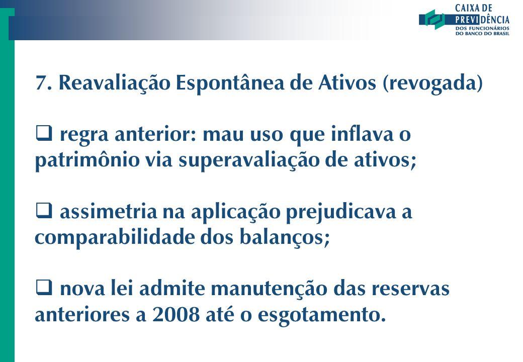 7. Reavaliação Espontânea de Ativos (revogada)