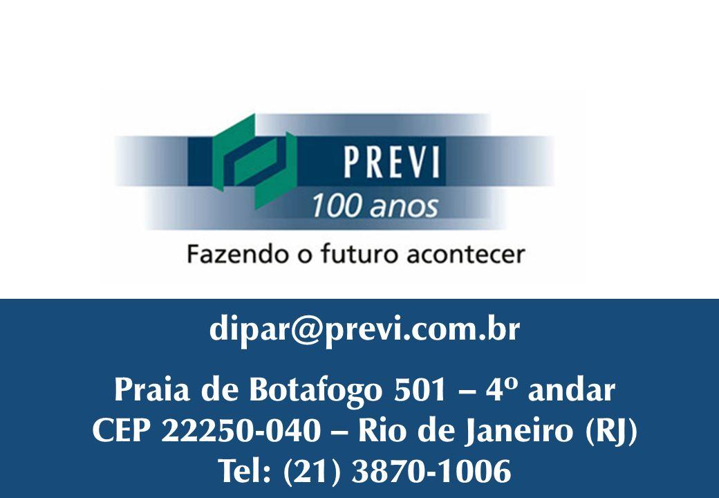 Praia de Botafogo 501 – 4º andar CEP 22250-040 – Rio de Janeiro (RJ)