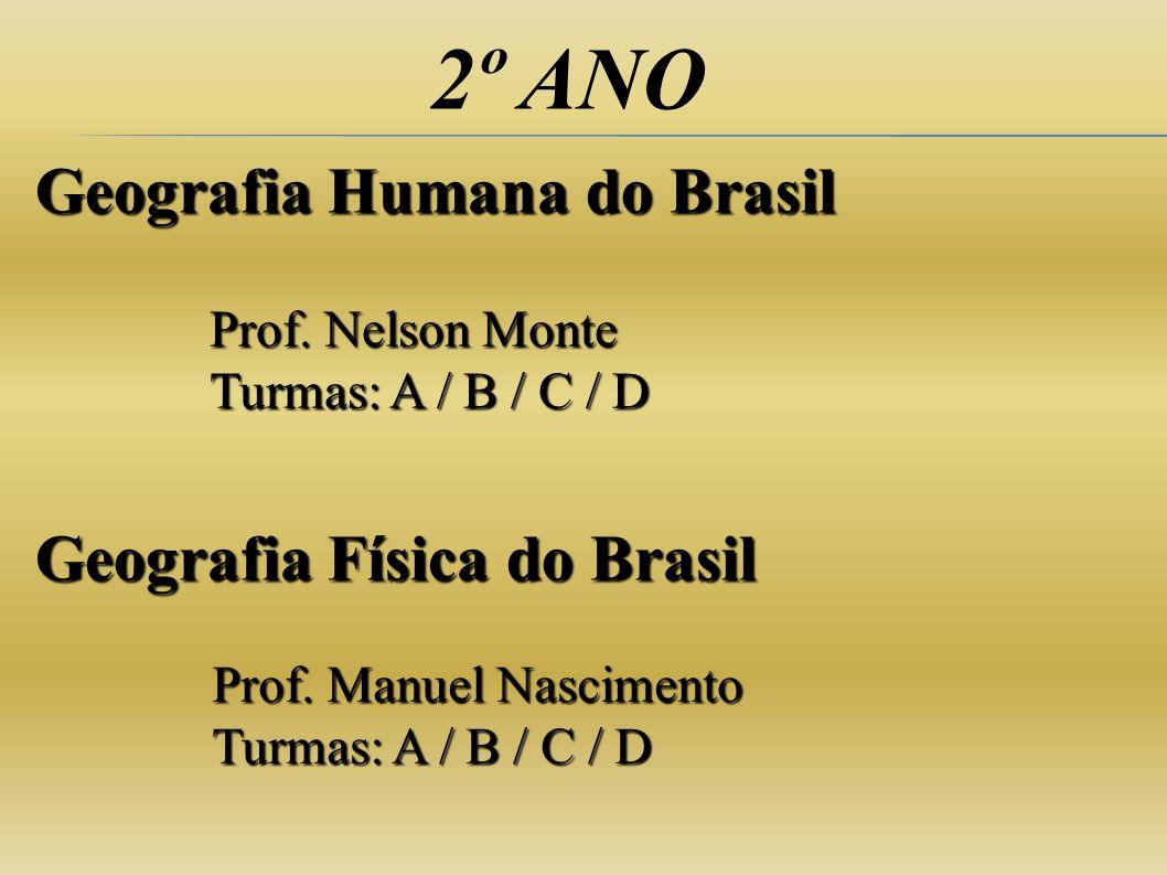 2º ANO Geografia Humana do Brasil Geografia Física do Brasil