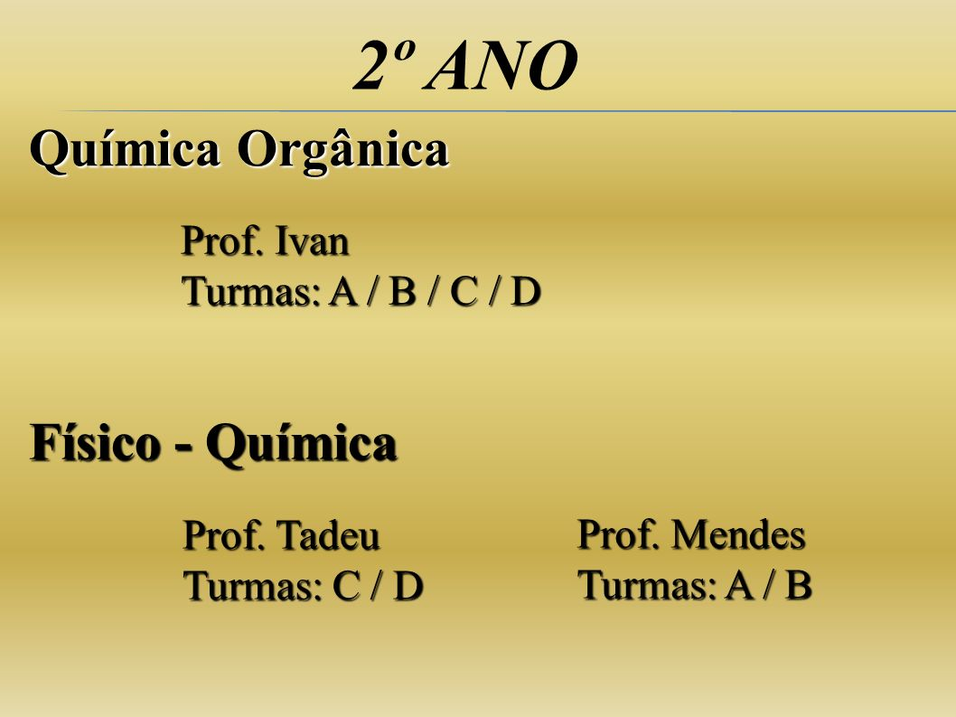 2º ANO Química Orgânica Físico - Química Prof. Ivan