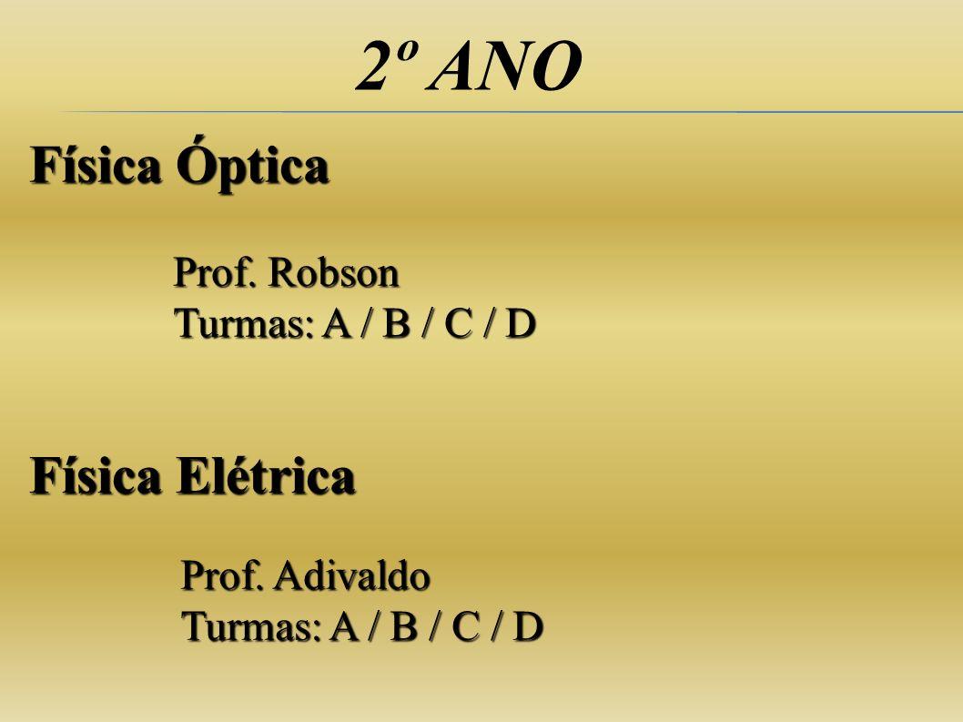 2º ANO Física Óptica Física Elétrica Prof. Robson