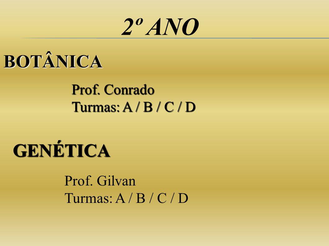 2º ANO BOTÂNICA GENÉTICA Prof. Conrado Turmas: A / B / C / D