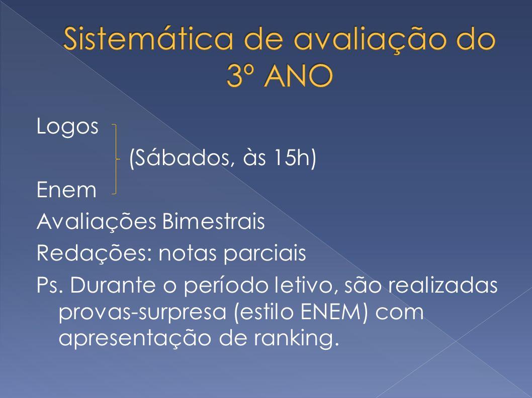 Sistemática de avaliação do 3º ANO