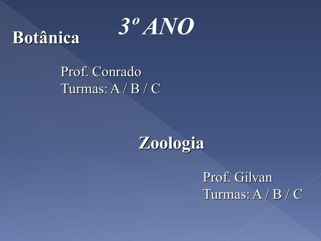 3º ANO Botânica Zoologia Prof. Conrado Turmas: A / B / C Prof. Gilvan