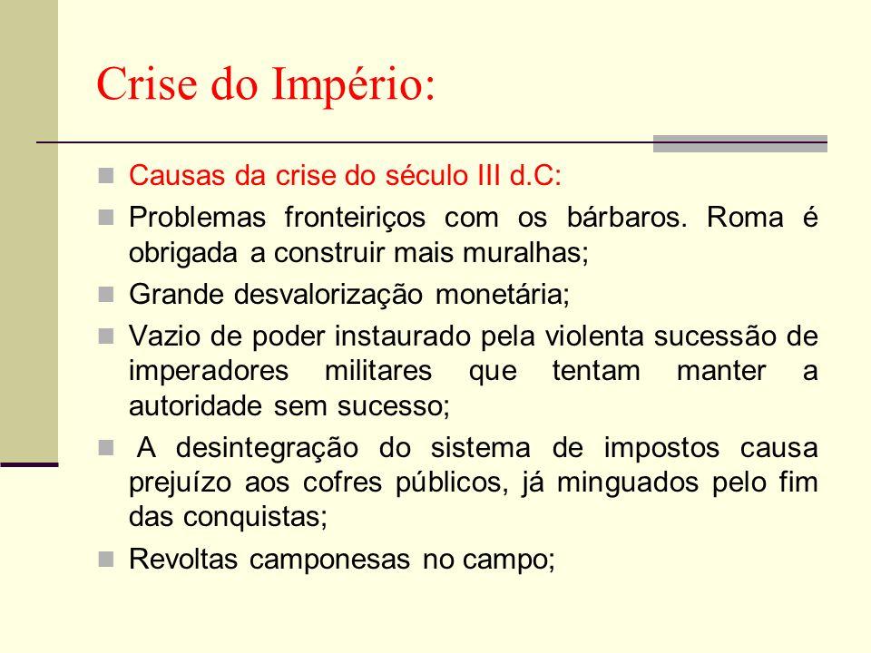 Crise do Império: Causas da crise do século III d.C: