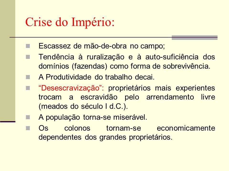 Crise do Império: Escassez de mão-de-obra no campo;