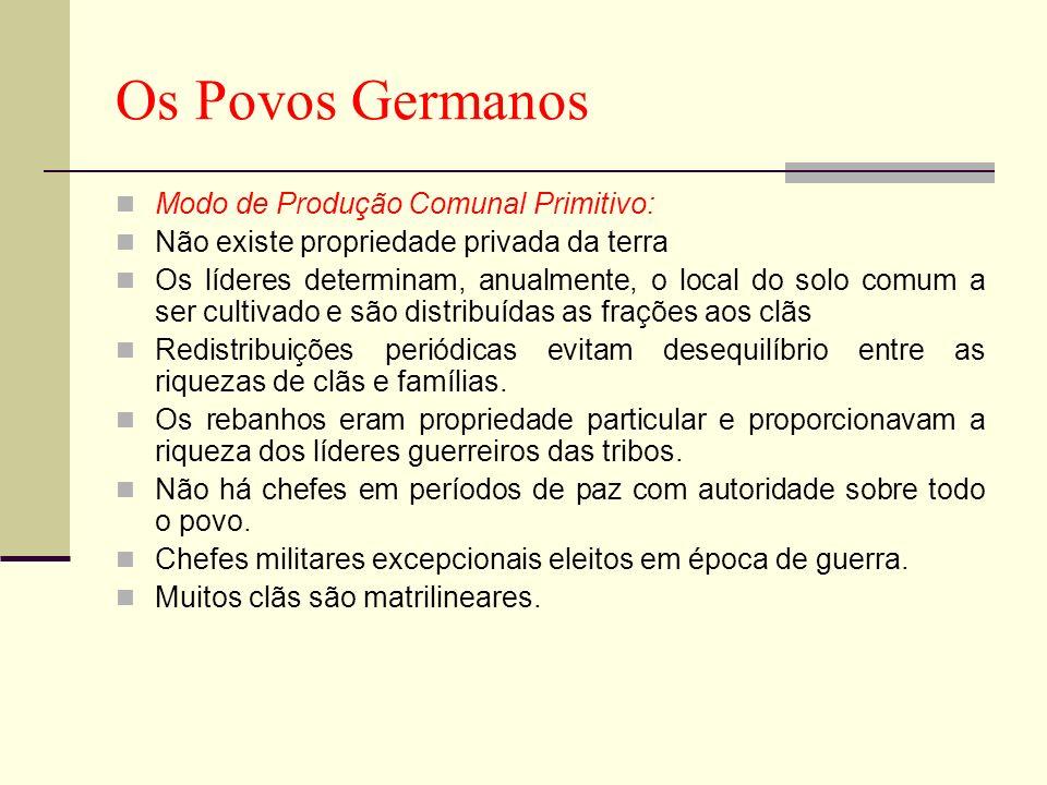 Os Povos Germanos Modo de Produção Comunal Primitivo: