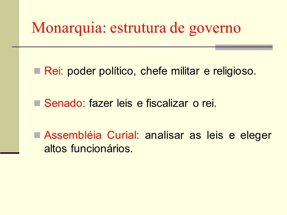 Monarquia: estrutura de governo