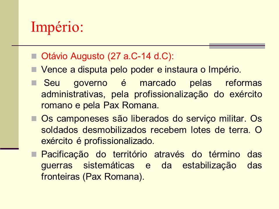 Império: Otávio Augusto (27 a.C-14 d.C):