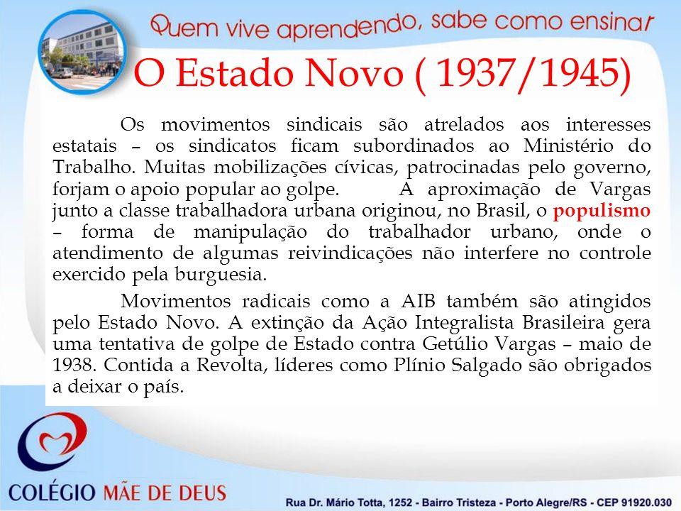O Estado Novo ( 1937/1945)