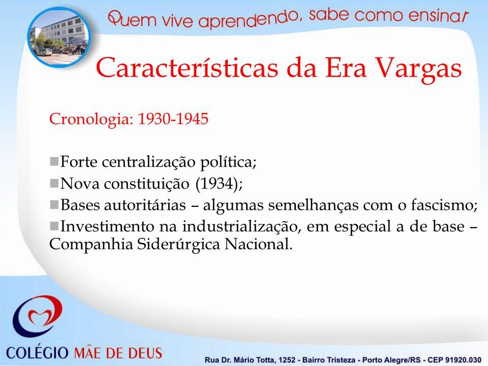 Características da Era Vargas