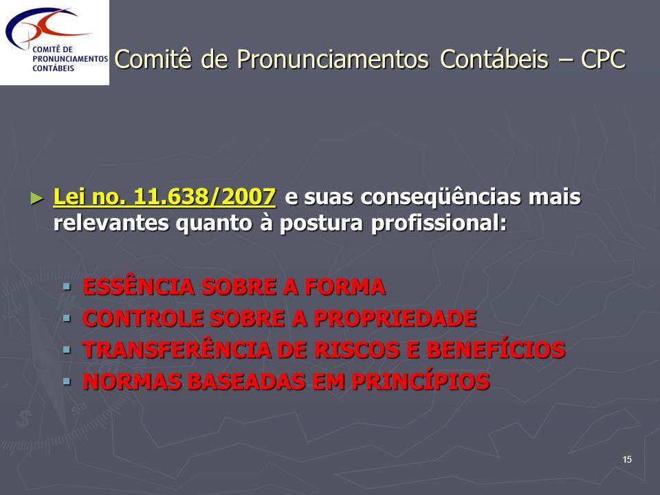Comitê de Pronunciamentos Contábeis – CPC
