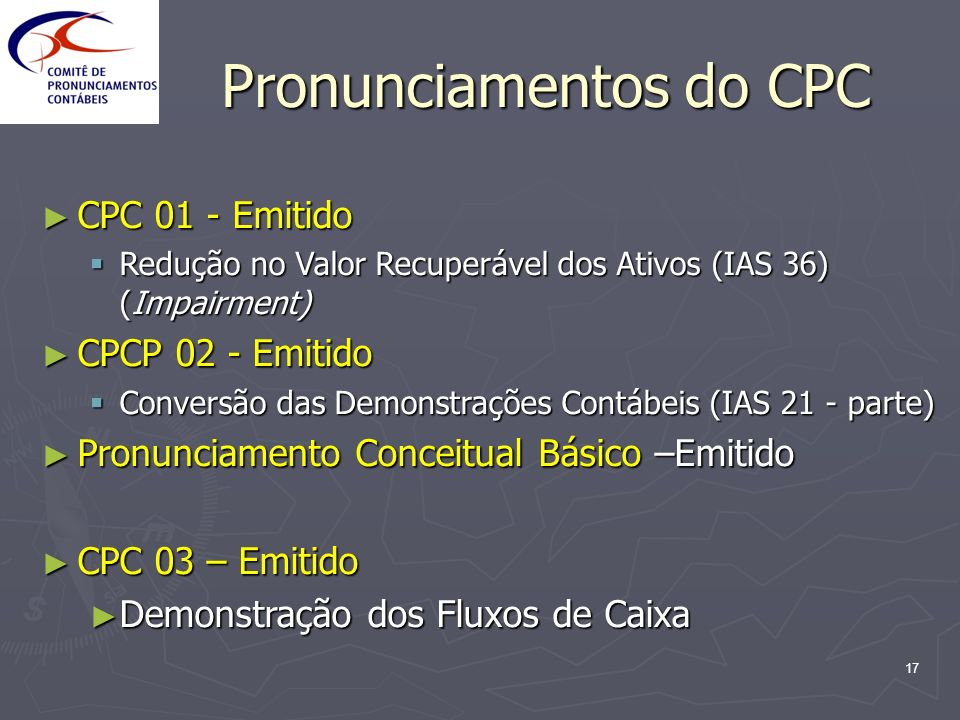 Pronunciamentos do CPC