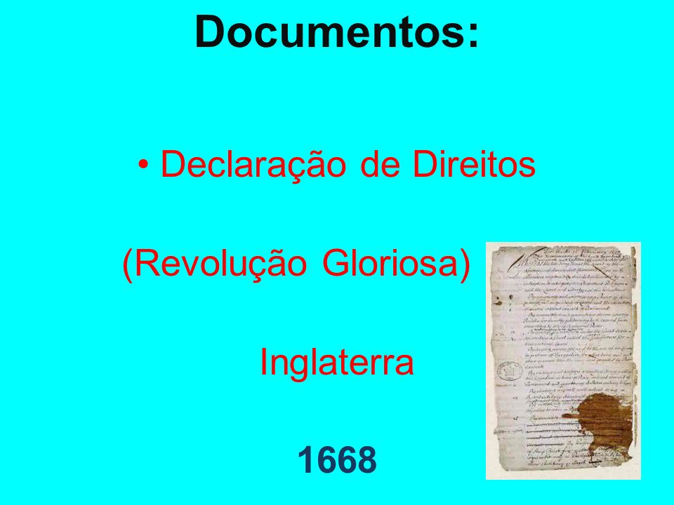 • Declaração de Direitos