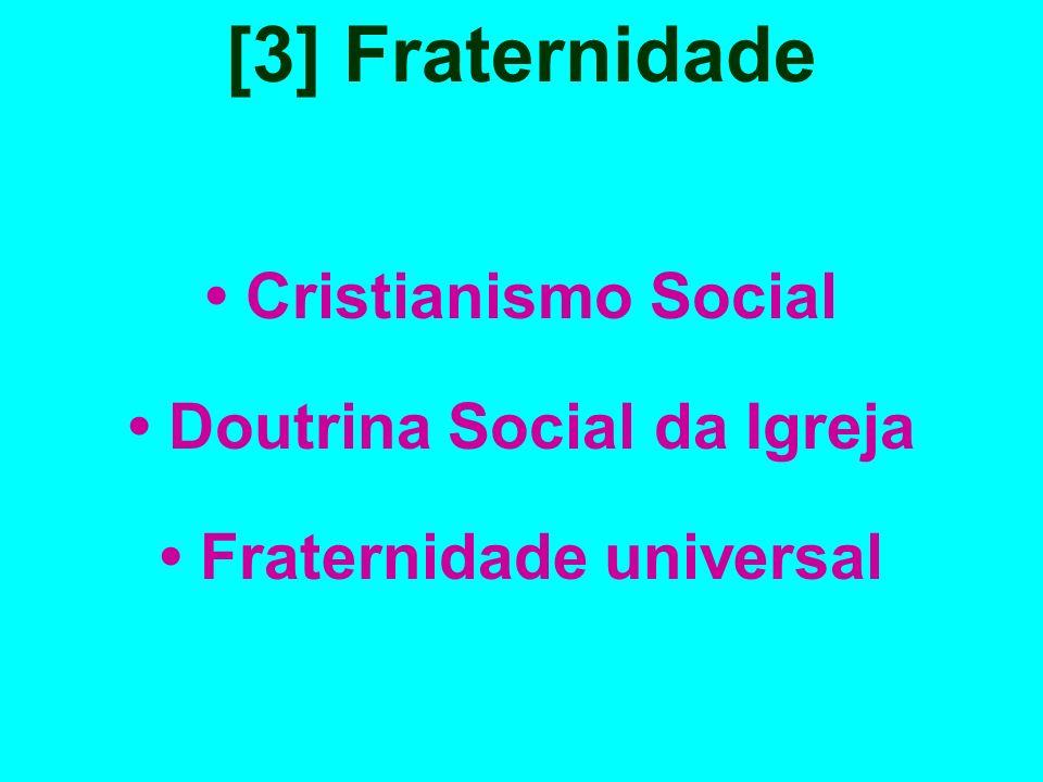 • Doutrina Social da Igreja • Fraternidade universal
