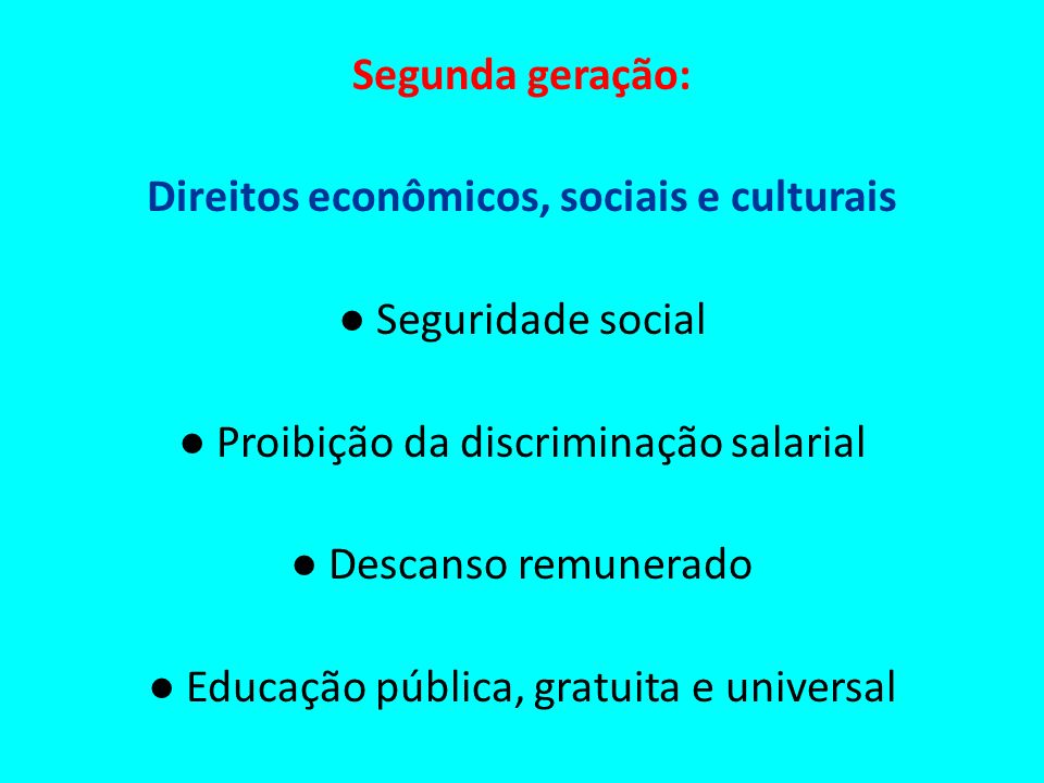 Direitos econômicos, sociais e culturais