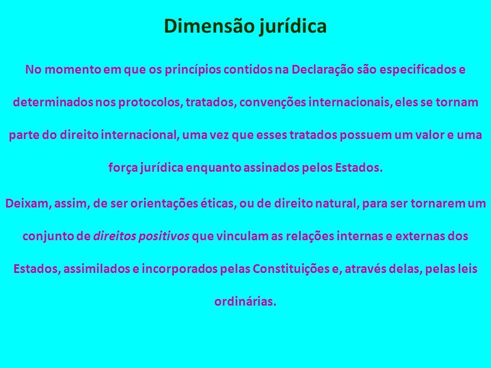 Dimensão jurídica