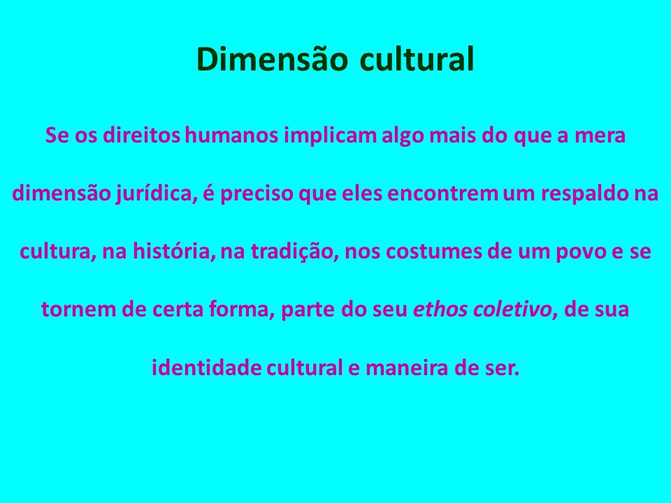 Dimensão cultural