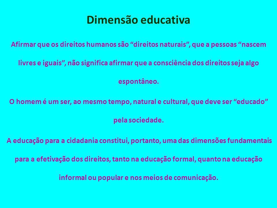 Dimensão educativa
