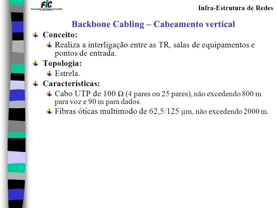 Backbone Cabling – Cabeamento vertical