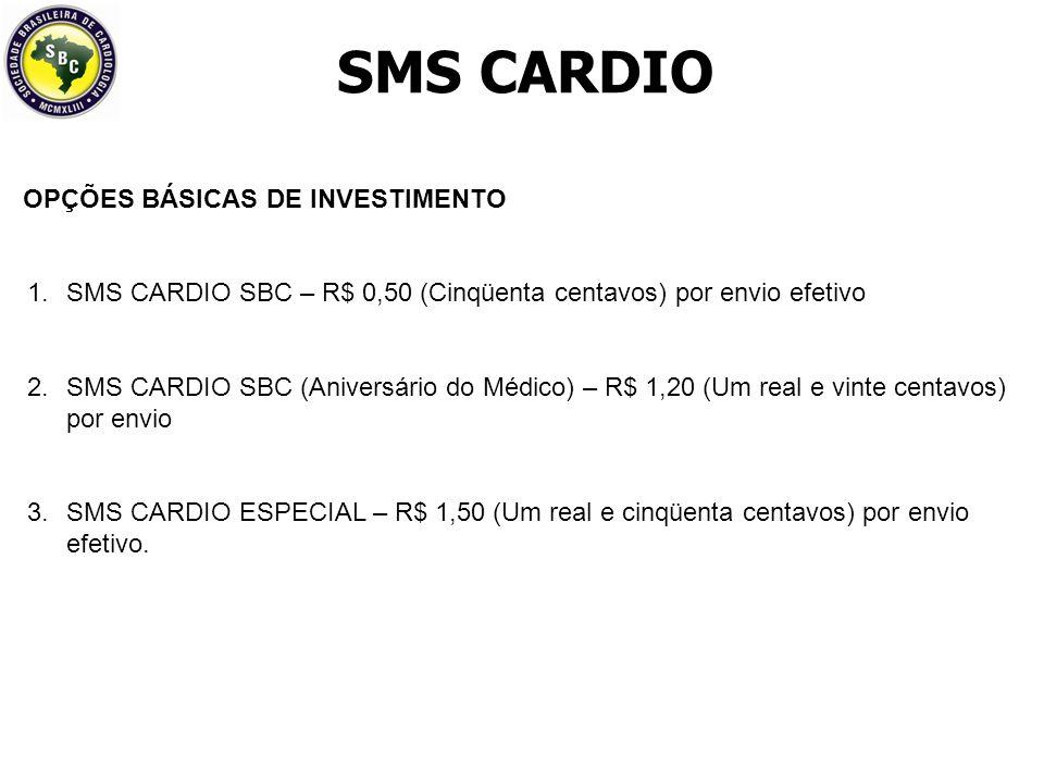 SMS CARDIO OPÇÕES BÁSICAS DE INVESTIMENTO
