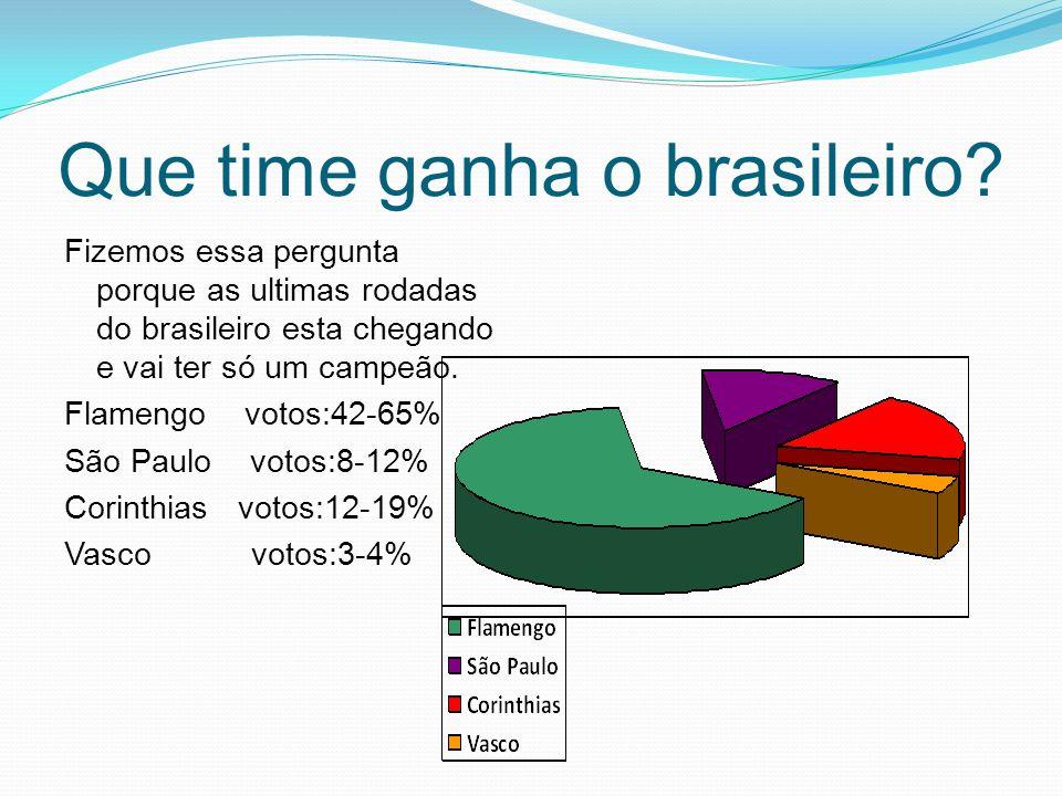 Que time ganha o brasileiro