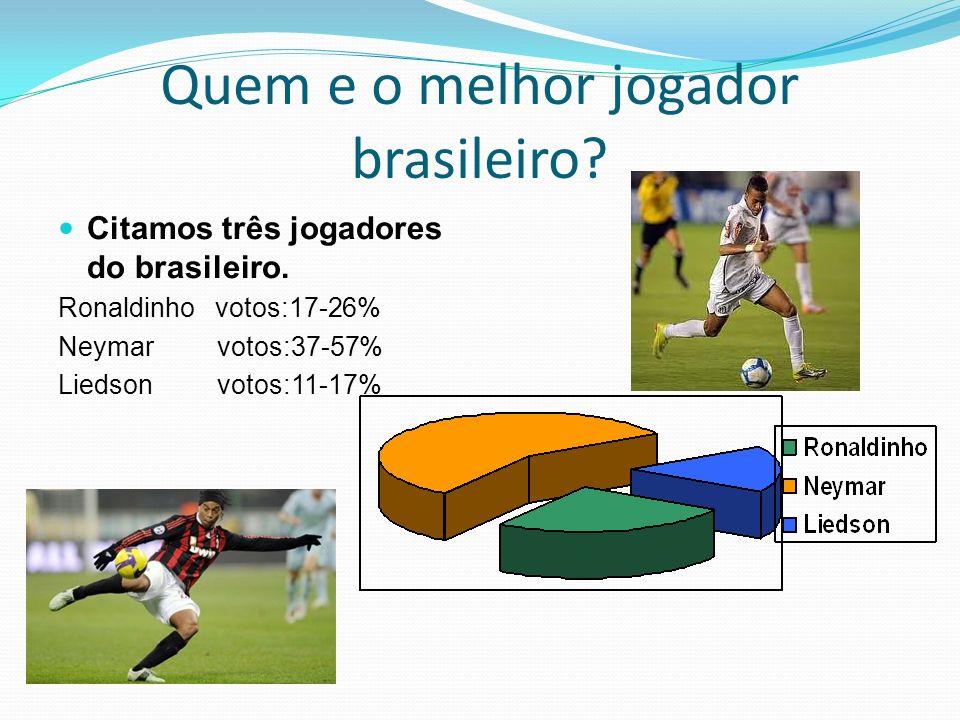 Quem e o melhor jogador brasileiro