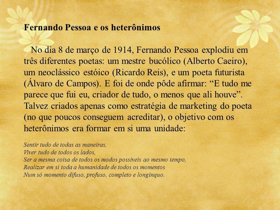 Fernando Pessoa e os heterônimos