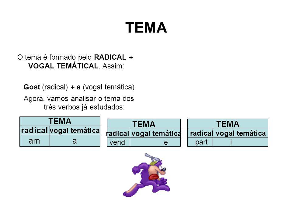 radical vogal temática radical vogal temática