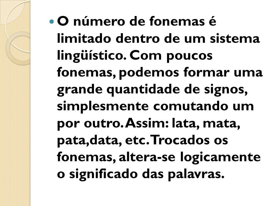 O número de fonemas é limitado dentro de um sistema lingüístico