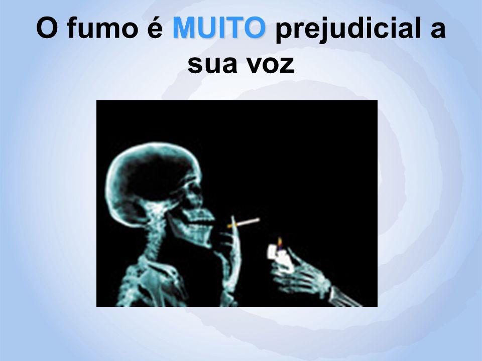 O fumo é MUITO prejudicial a sua voz