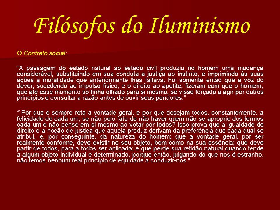 Filósofos do Iluminismo