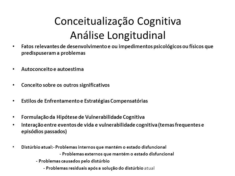 Conceitualização Cognitiva Análise Longitudinal