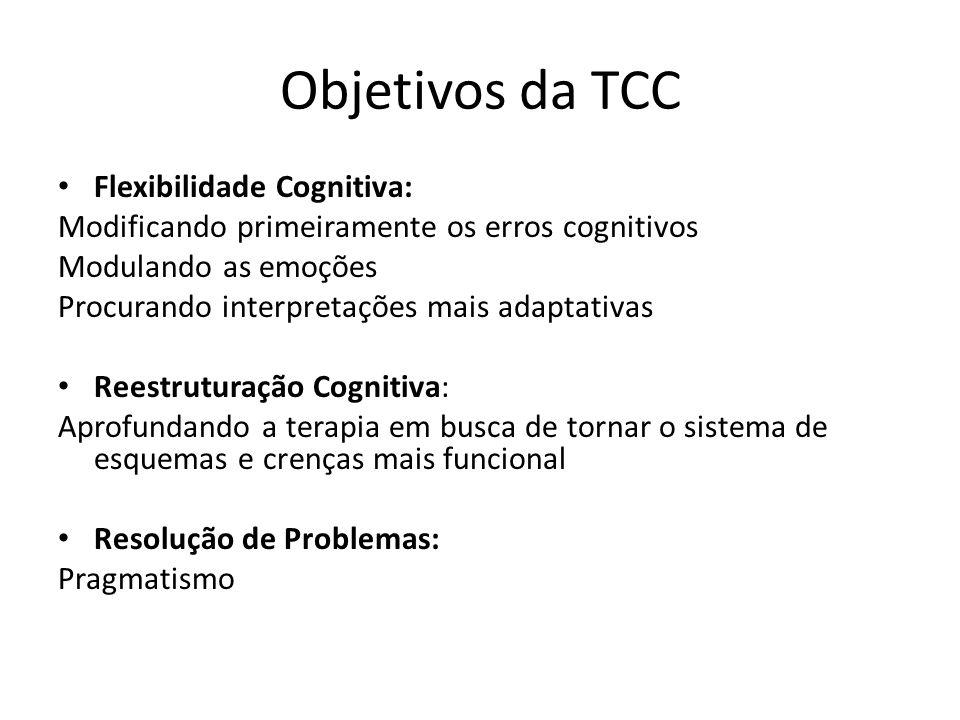 Objetivos da TCC Flexibilidade Cognitiva: