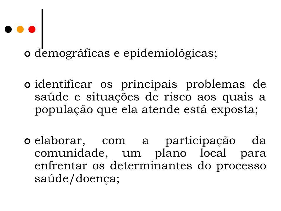 demográficas e epidemiológicas;
