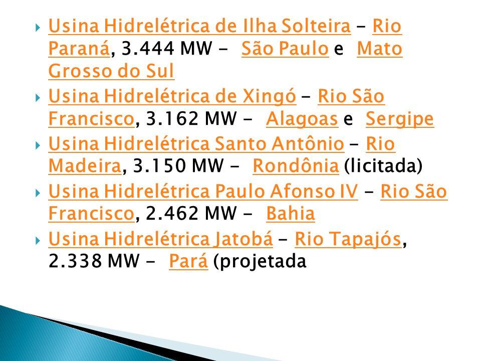 Usina Hidrelétrica de Ilha Solteira - Rio Paraná, 3
