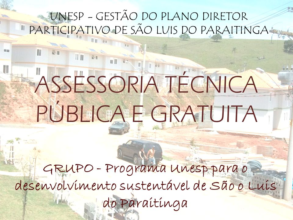ASSESSORIA TÉCNICA PÚBLICA E GRATUITA