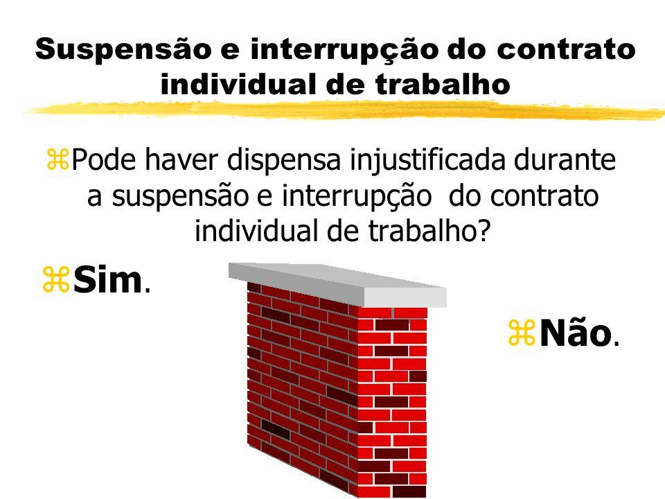 Suspensão e interrupção do contrato individual de trabalho