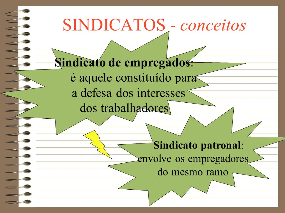 SINDICATOS - conceitos