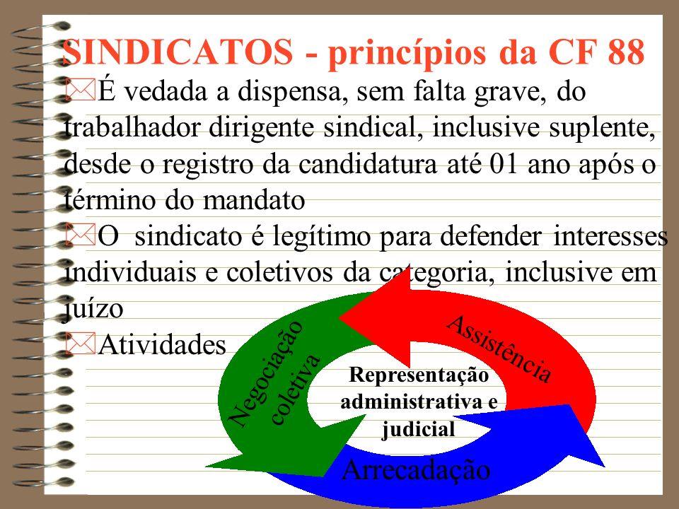 SINDICATOS - princípios da CF 88